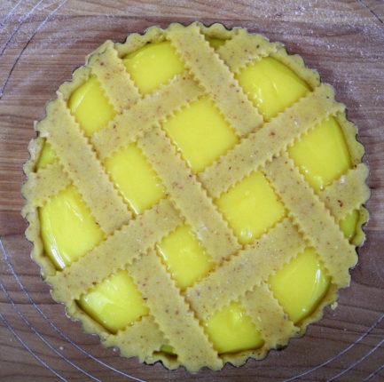 Crostata con crema di limoni